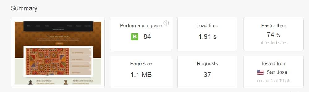 GoDaddy Website Builder's Site Page Speed