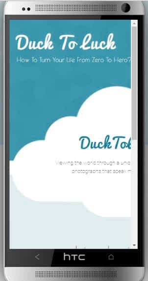 GoDaddy themes in HTC mobile