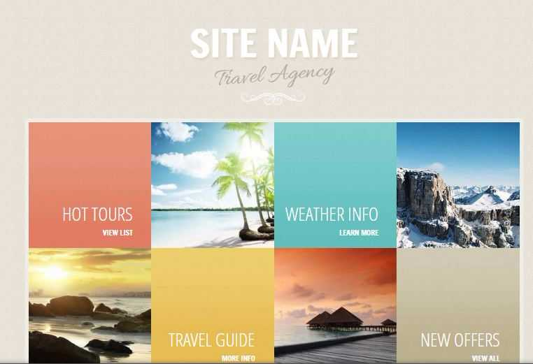 GoDaddy travel Theme example