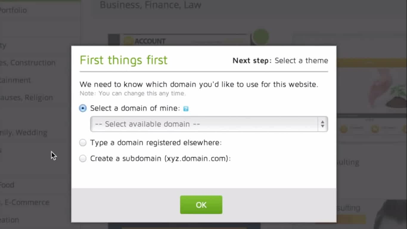 Select Your Domain Name