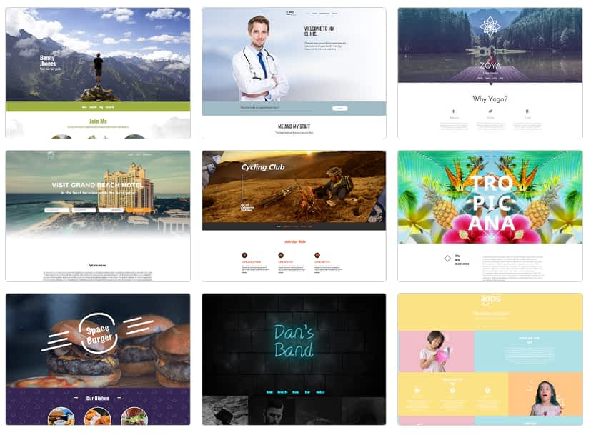 Simbla Website Templates front page