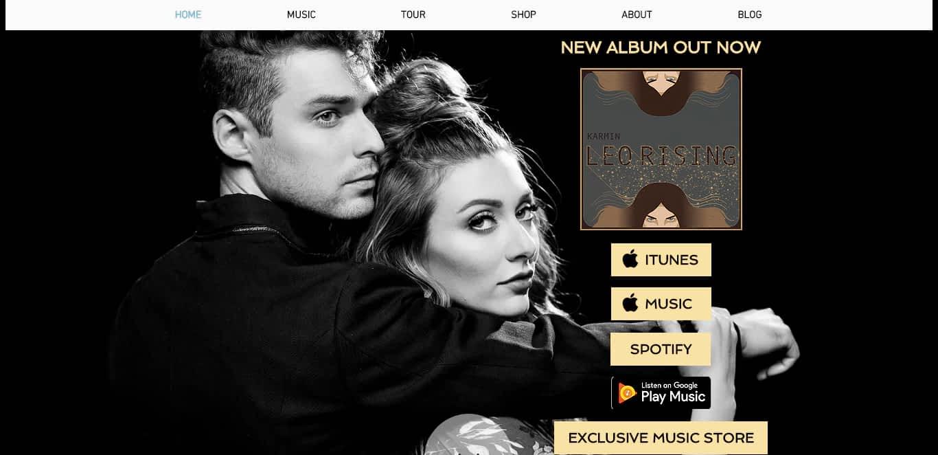 best band website karmin