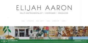 Musician Elijah Aaron Website is one of the best site