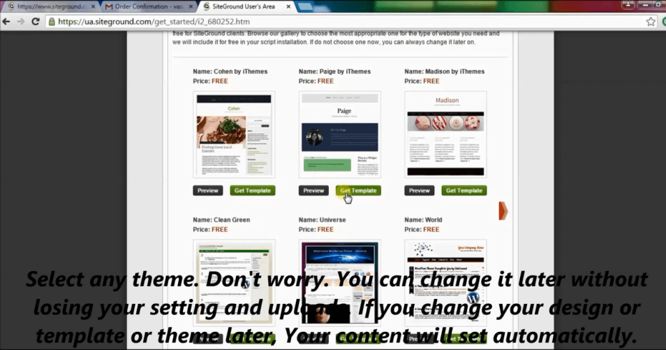 select any wordpress theme, later you can change it.
