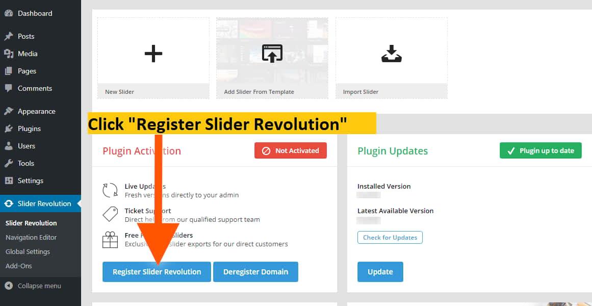 register slider revolution