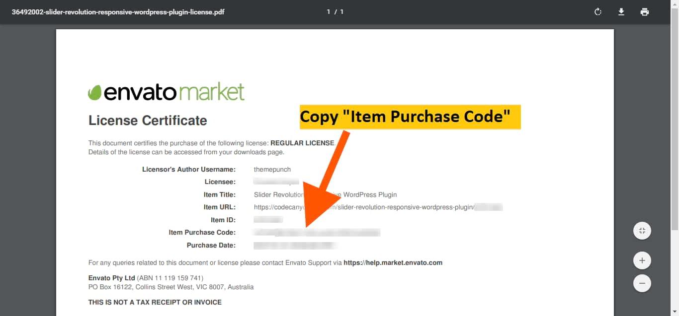 slider revolution copy license code