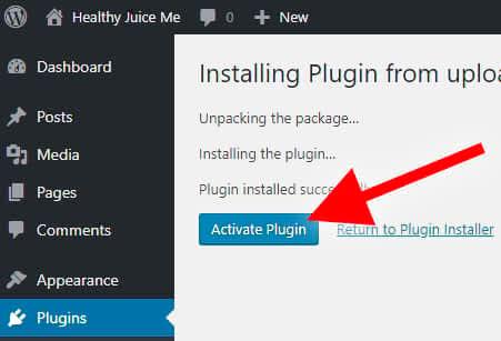 activate wordpress website builder plugin