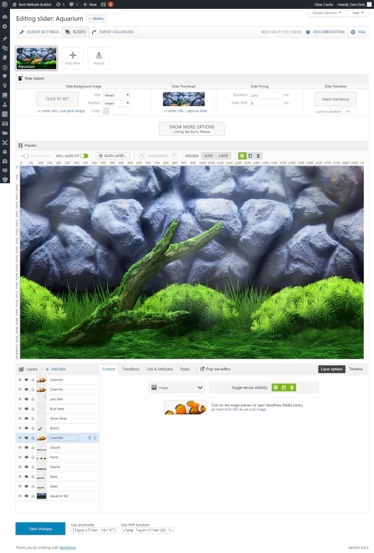 layer slider editor