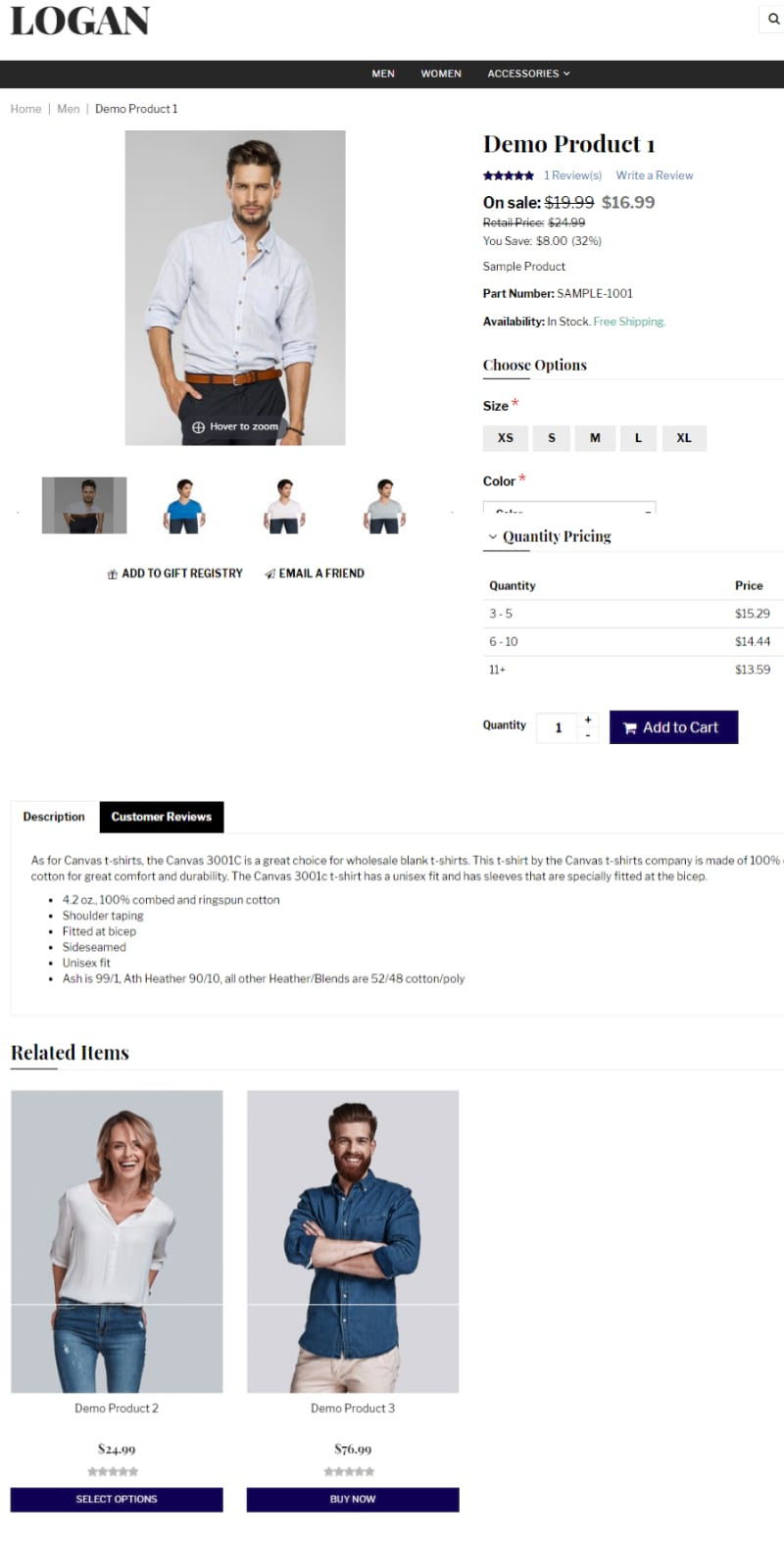 3dcart store product example to test SEO markup data