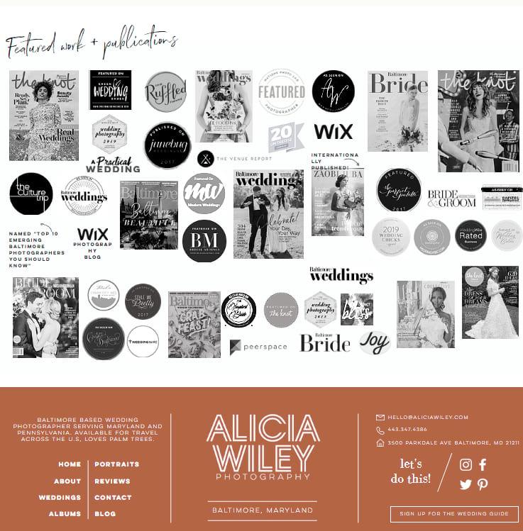 Alicia Wiley Photography Website