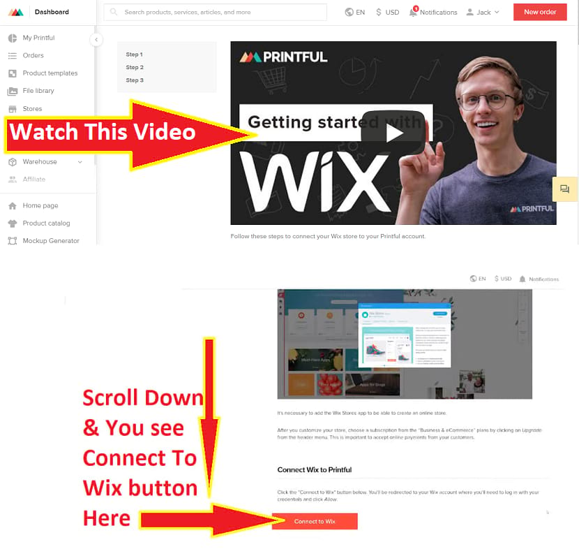 Connect to your Wix online store eCommerce website