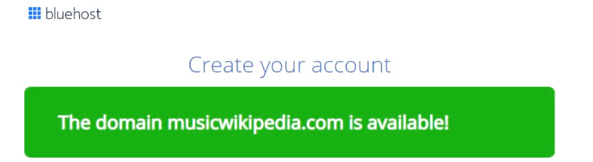 Domain name available for my Wikipedia website