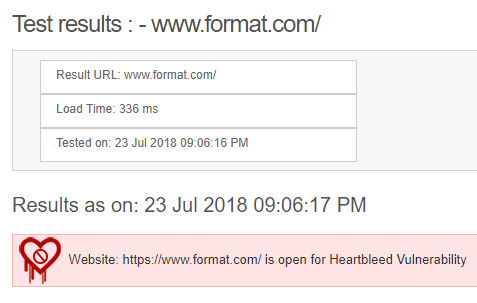 Format website security test