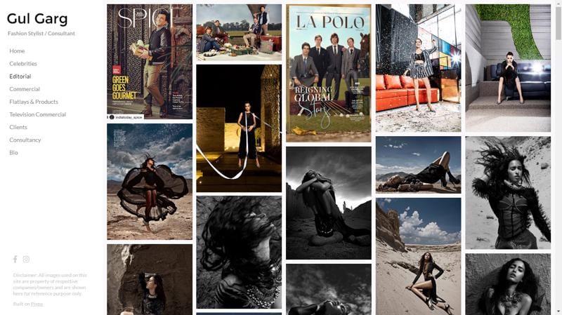 Photography website Gul Garg