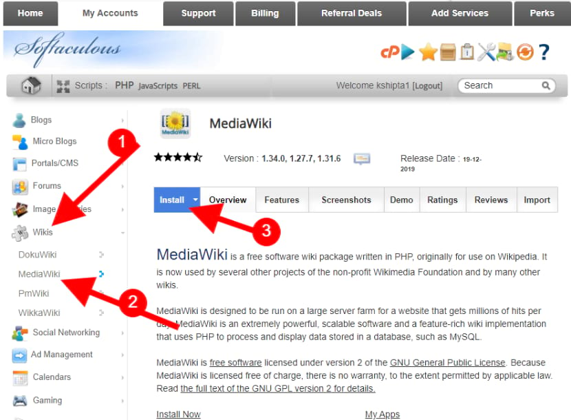 Install MediaWiki software to create your own Wikipedia like website