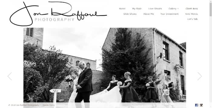 Jon Raffoul Photography Website