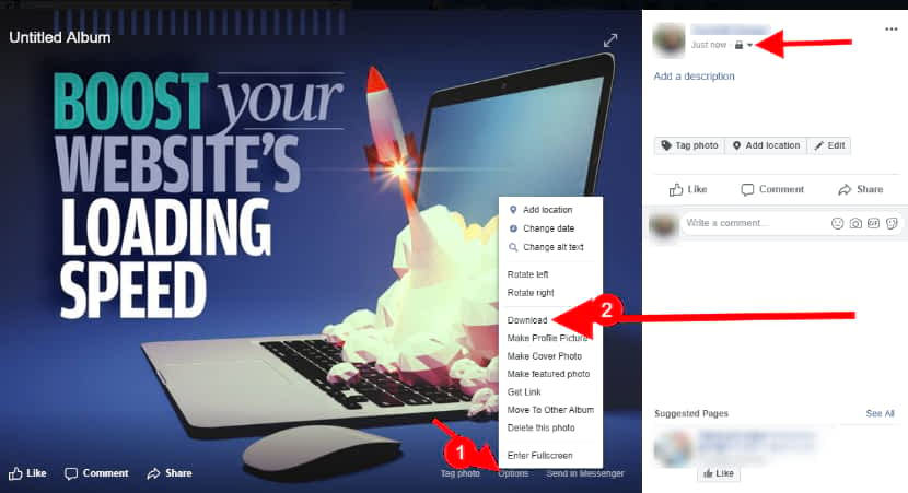 Optimize images using Facebook albums to speed up wix site