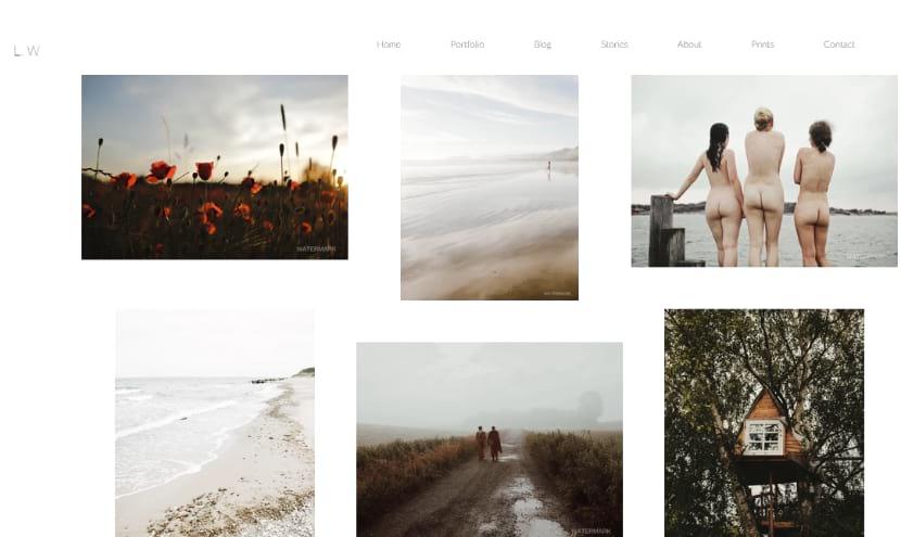 Photography website LW
