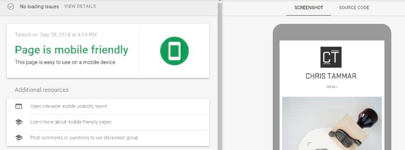 Pixpa template mobile friendly test