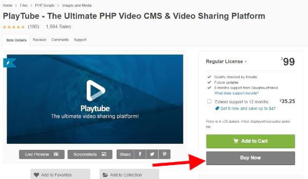 PlayTube Youtube like video website script