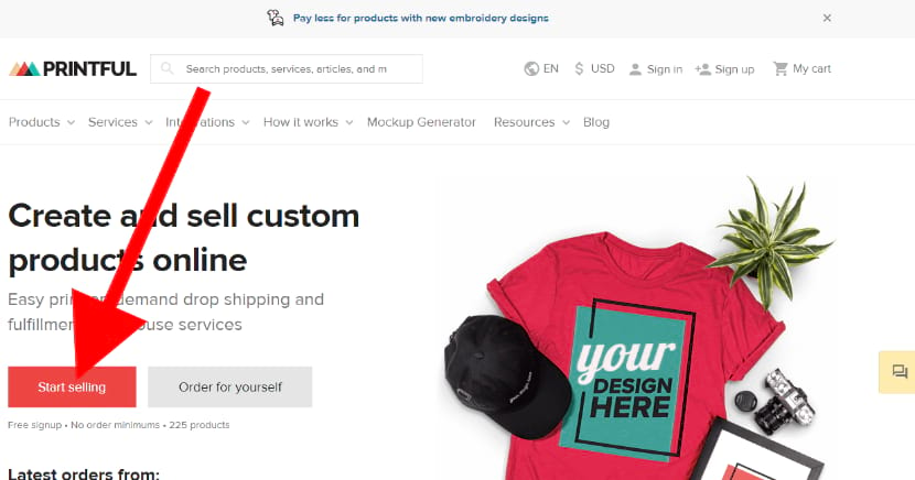 Printful on demand drop shipping and ware house service for your online store eCommerce website for free