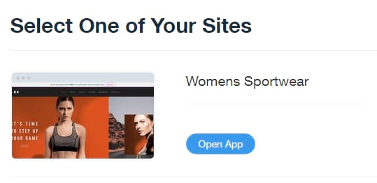 Select your site to add blogger