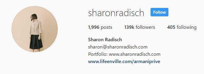 Sharon Radisch Social followers