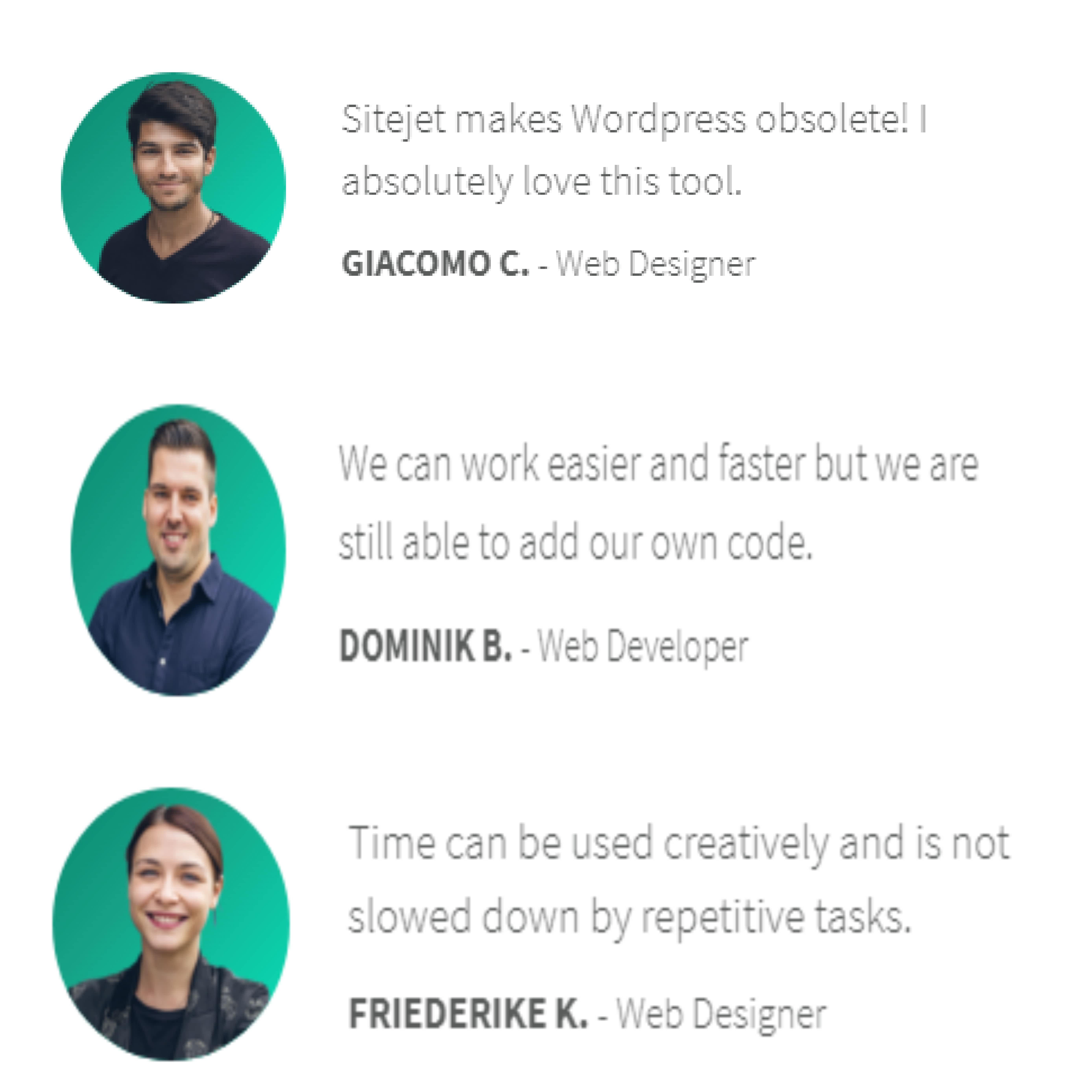 Sitejet Reviews by Web designers