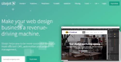 Sitejet Homepage