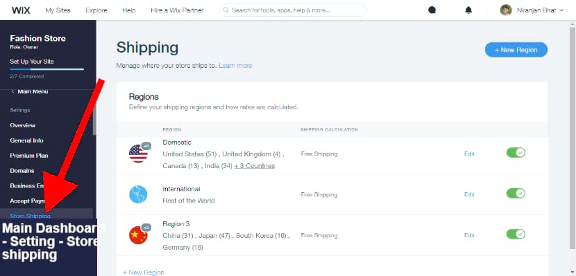 set Store shipping- you can ship anywhere in the world from usa to china