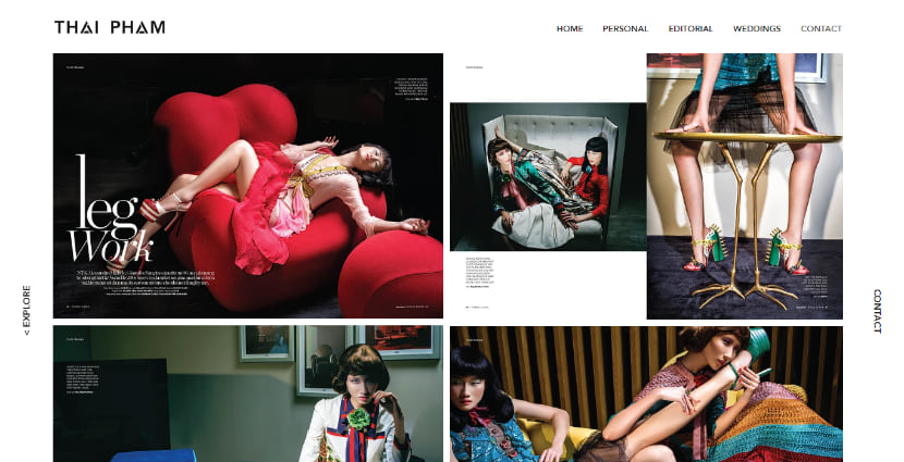 Thai Pham Photography website