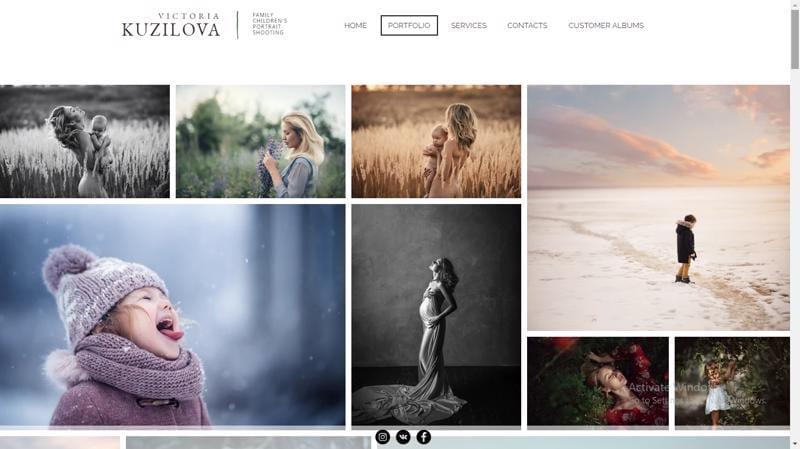 Victoria photography website