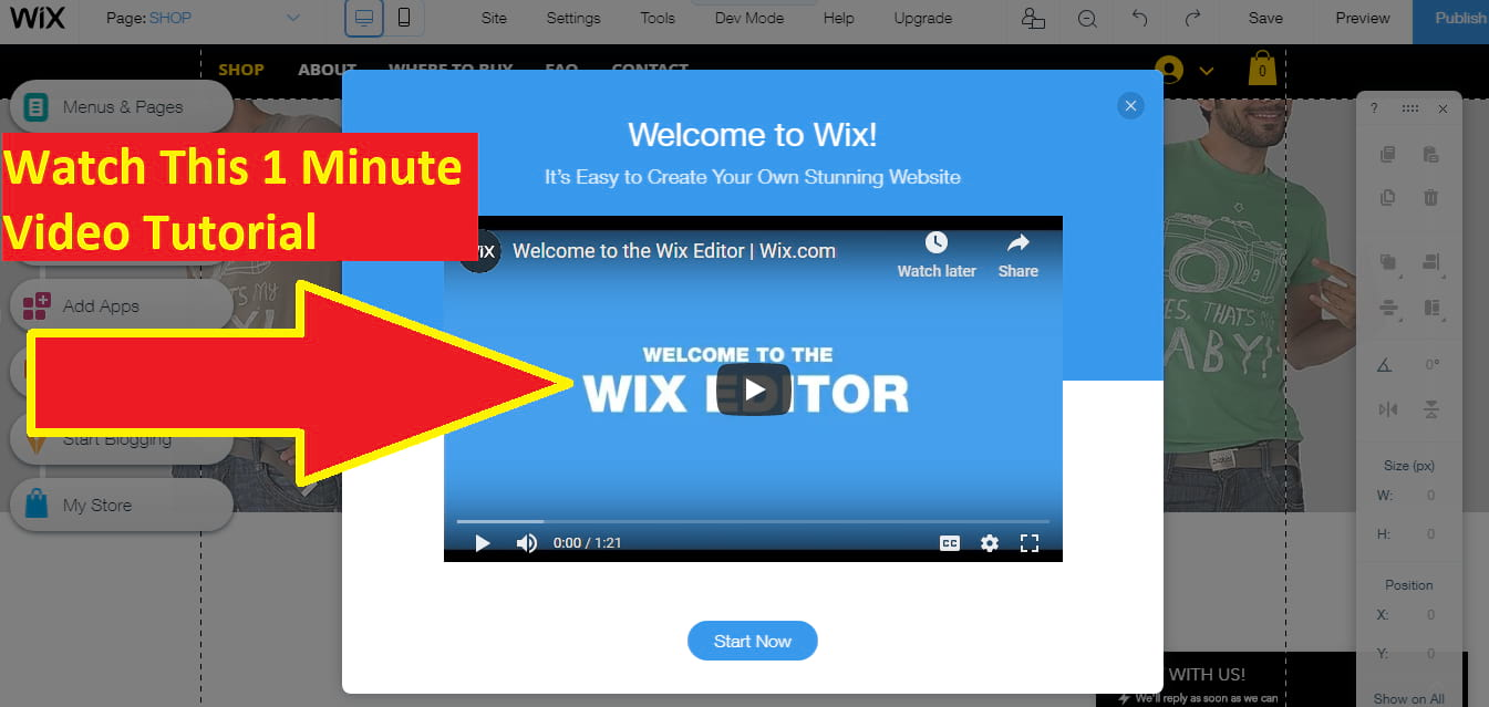 Wix Online Store Editor Video Tutorial