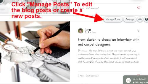 Wix blog manage ease of use