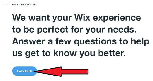 Inizio dei negozi Wix