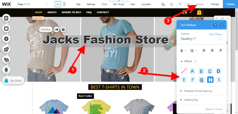 Your online store website editor