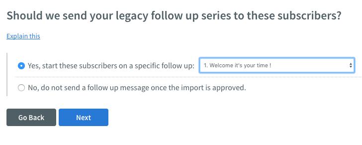 Aweber import subscriber screenshot