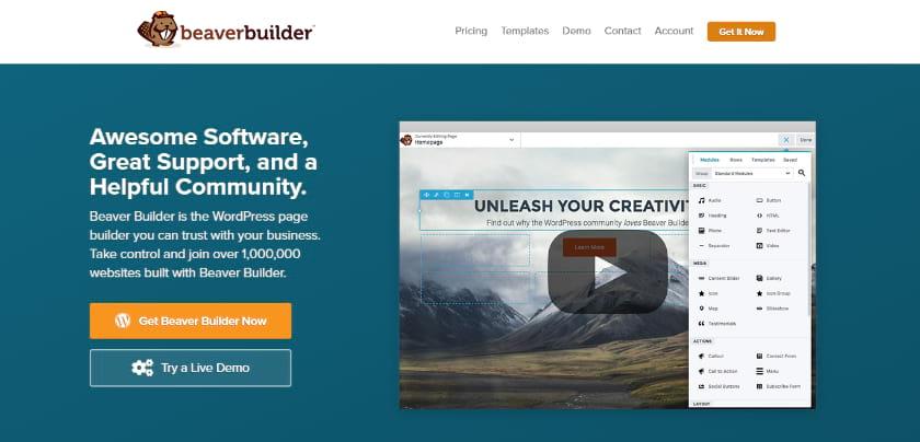 Beaver front screenshot