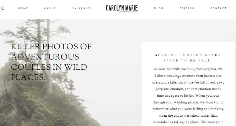 best Photography website used wordpress