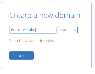 domain name for video website
