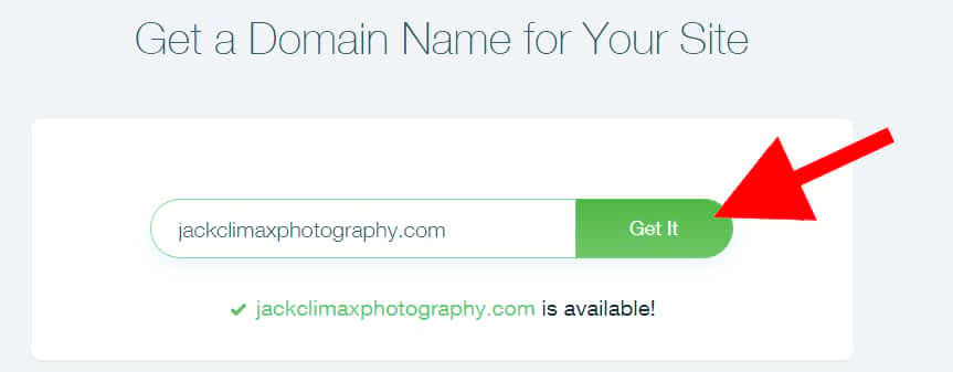 typed dot photography top level domain name was available