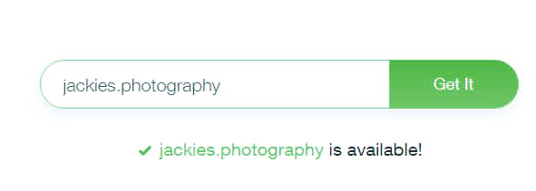 My typed dot photography top level domain name was available