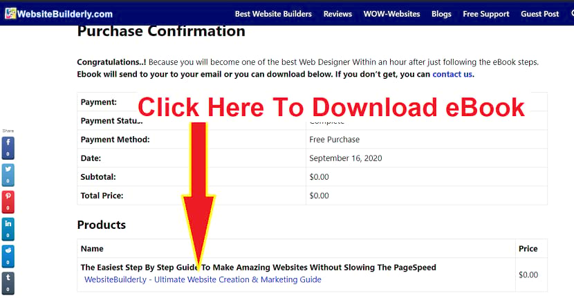 How to download our eBook - how to make an amazing website