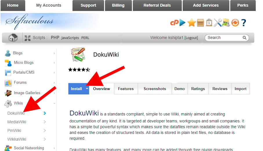easy wikipedia website software