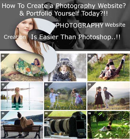 how to create a photography website free