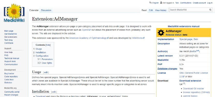 make money from your wikpedia website using admanager extension