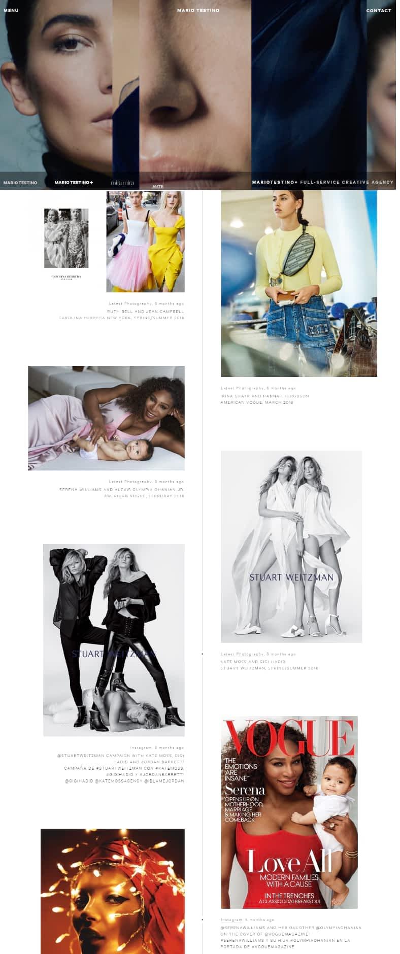 Maria Testino photography website