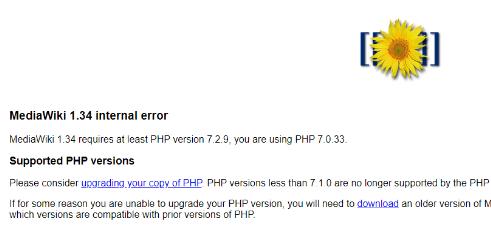 mediawiki error