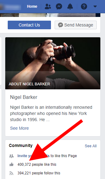 photographer Nigel Barker social media followers
