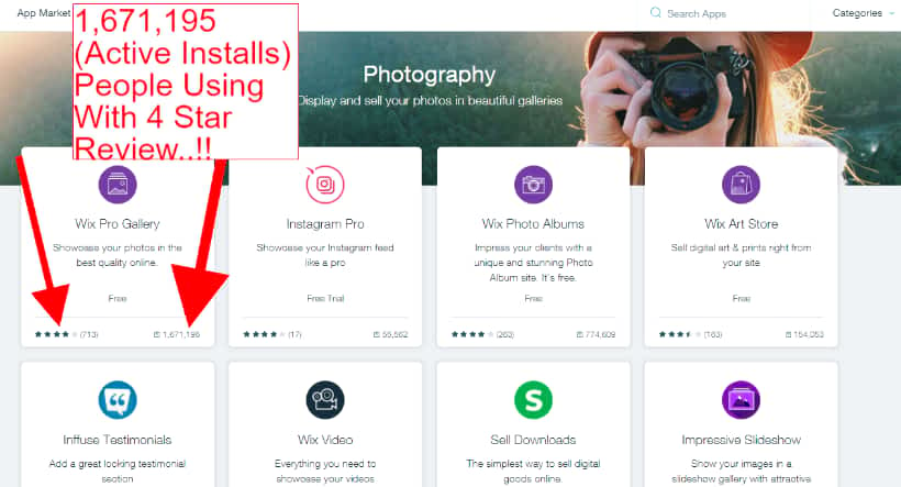 photography gallery app active installs. Millions of photographers using it.